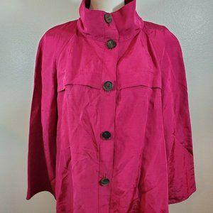 Lafayette 148 Size 12 Shirt Jacket Pink Linen